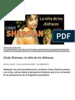 Cindy Sherman, La Niña de Los Disfraces