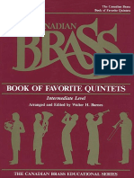 Book of Favorite Quintets Canadian Brass
