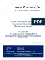 AC Voltage Electric Modulating Actuator IOM