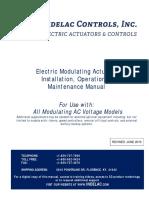 AC Voltage Electric Modulating Actuator IOM