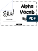 Alphabet Vocab Flipbook