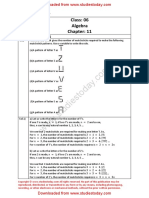 NCERT Solutions Class 6 Mathematics Algebra