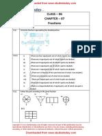 NCERT Solutions Class 6 Mathematics Fractions