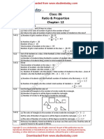 NCERT Solutions Class 6 Mathematics Ratio and Proportion