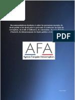Recommandations AFA (Décembre 2017)