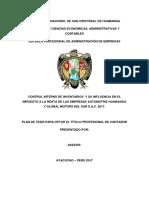 Control Interno Automotriz Huamanga