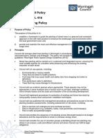 2013 154186 Draft Street Tree Planting Policy 2013
