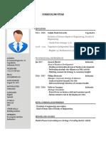 Download Contoh CV PDF Doc Untuk Lamaran Kerja English