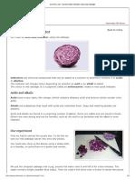 Red Cabbage Ph Indicator
