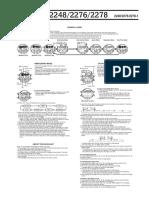 G Schock G-2210 Manual