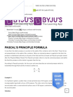 Pascal's Principle Formula _ Definition and Examples
