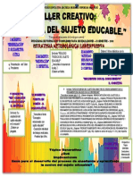2018. III s. Taller Creativo.el Sujeto Educable.