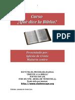CURSO QUÉ DICE LA BIBLIA Presentación Actualizada. (1)