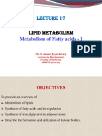 Lecture 17_Lipid Metabolism II