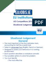 EU-Situational Judgement Tips