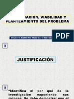 4 Justificación Viabilidad Planteamiento Del Problema Objetivos