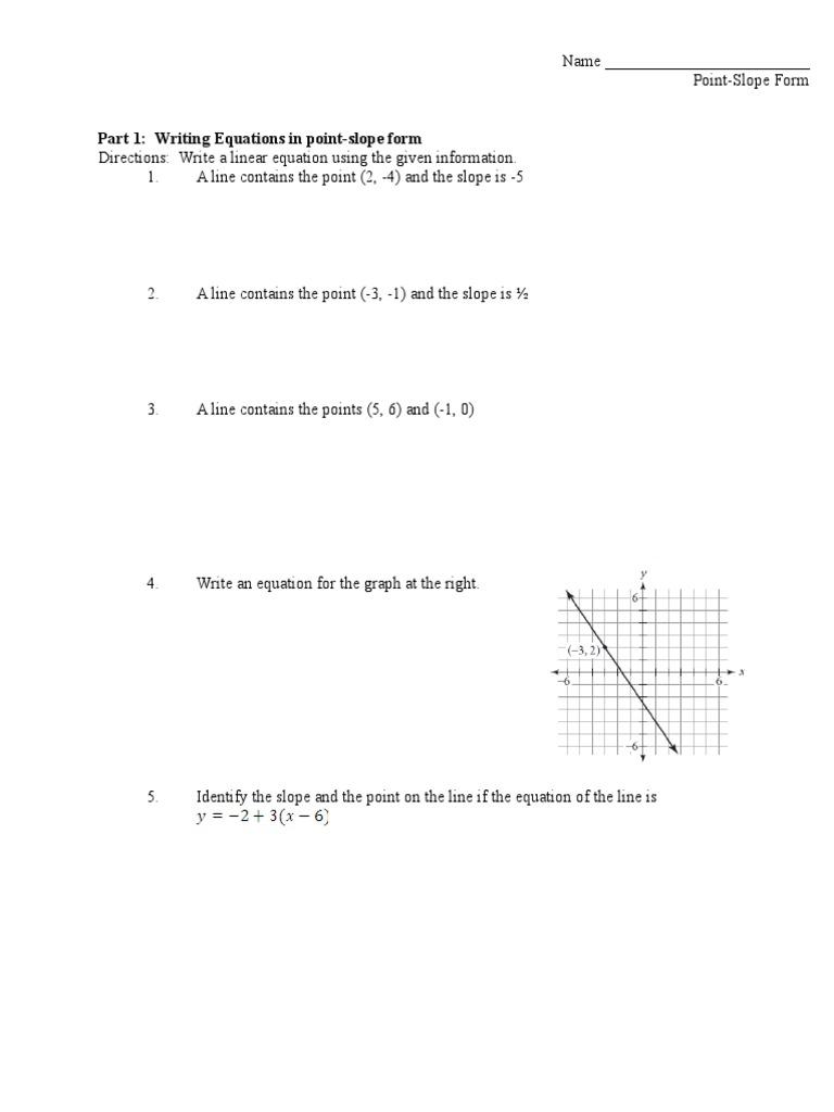 point slope form investigation  10 10 point-slope investigation