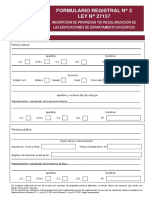 Formulario Registral N2