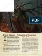 Druid Circles - Apocryphal Teachings