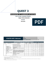 Quest 3 - Programme Classroom Activities