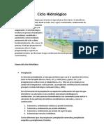 Ciclo Hidrológico Informe