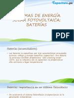 Unidad 4 - Equipamiento Auxiliar de Sistemas Fotovoltaicos (BOS)-Baterías