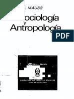 MAUSS- Sociologia y Antropologia