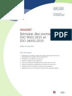 Service a La Clientele SQS_Révision Des Normes ISO 9001-2015 Et ISO 14001-2015_Regles de Transition