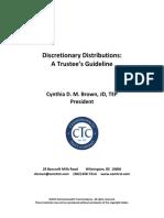 CDMB Presentation Re Discretionary Distributions a Trustees Guideline