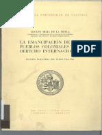 1968_La Emancipación de Los Pueblos Coloniales y El Derecho Internacional_España