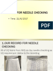 About Needle Checking