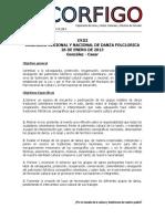 Bases y Reglamento Concurso Regional de Danzas 2013