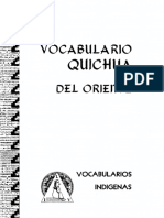 Orr Vocabulario Quichua Del Oriente Good One
