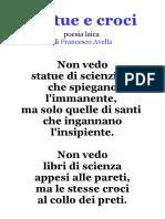 Statue e Croci, Poesia Laica Di Francesco Avella