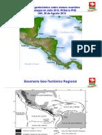 Sismos en Managua y El Sauce. . Dr Darce Rivera . Noviembre Del 2015