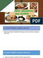 Nutrisi, Imunitas Dan Alergi