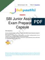 SBI Junior Associate Capsule