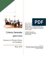 Criterios Generales Para Los Coros