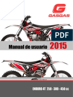 Manual Gasgas Enduro 4t 2015 Esp