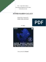 Super Mario Galaxy Complete Piano Booklet