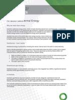 Geothermal Fact Sheet