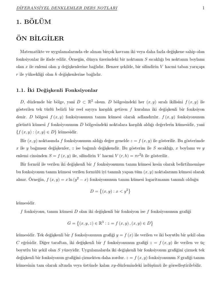 Fonksiyon ve diferansiyel hesabın tam incelenmesi