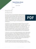 Senate Letter to Secretary of State Hilary Clinton Regarding LRA Violence