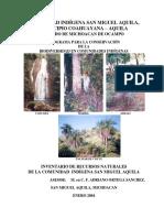 Portada Inventario de Recursos Naturales C.I.aquila