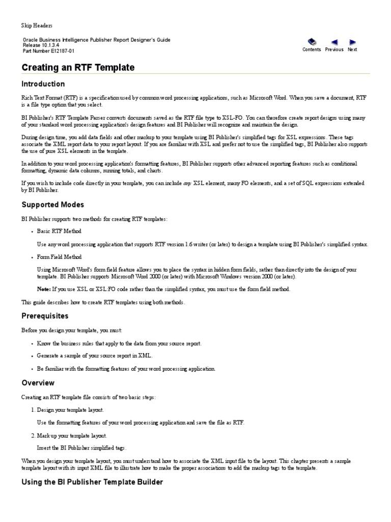 Oracle Business Intelligence Publisher Report Designer's Guide_RTF