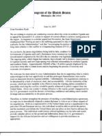 Joint Senate/House letter to President Bush - June 2007