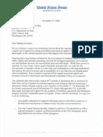 Senate letter to Secretary of State Rice (November 2006) regarding Juba Peace Negotiations