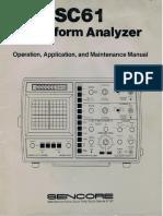 Sencore SC61 Operations Manual
