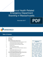 Behavioral Health-Related Emergency Department Boarding in Massachusetts
