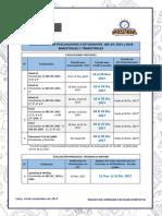 Cronograma de Evaluaciones Para IIEE JEC 2015 y 2016